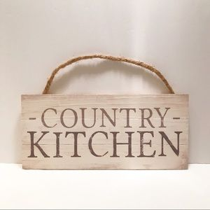 """NWT rustic/farmhouse """"country kitchen"""" wooden sign"""